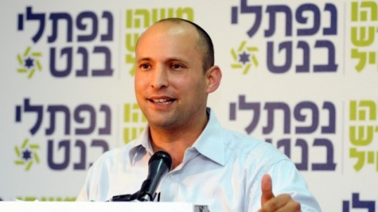 "Naftali Bennett, leader di ""Jewish Home Party"" (foto Flash 90)"